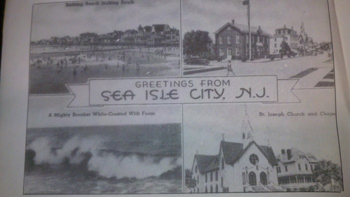 Old Sea Isle City Post Card. Courtesy of Days Gone By in Sea Isle Publication