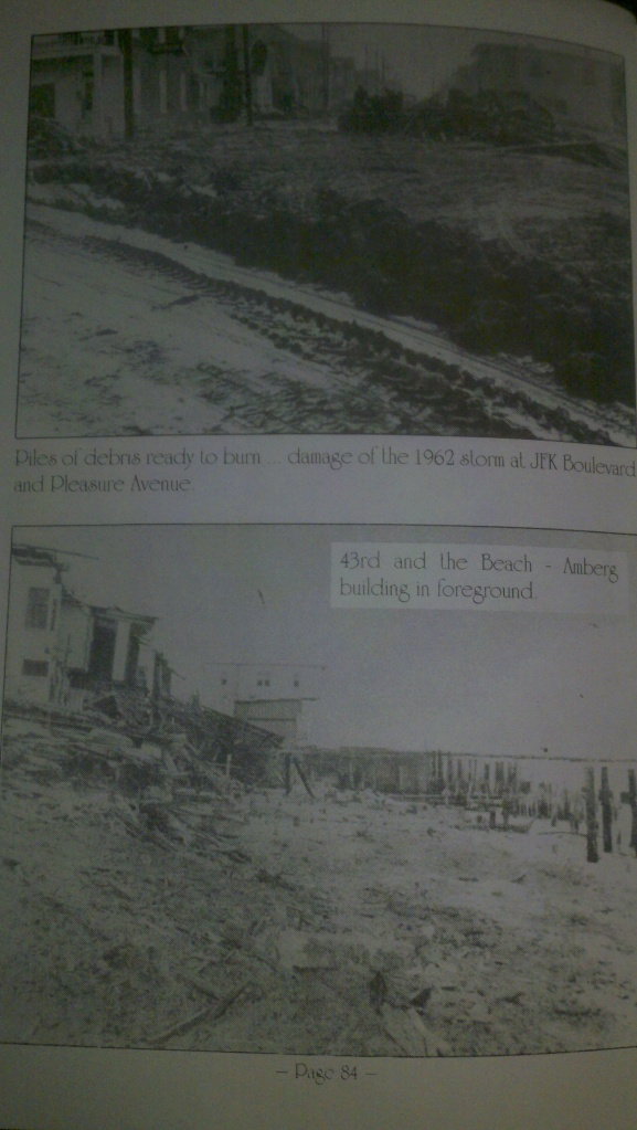 The Storm of 1962 that wiped out Sea Isle. Courtesy of Booklet Days Gone By of Sea Isle City, NJ.