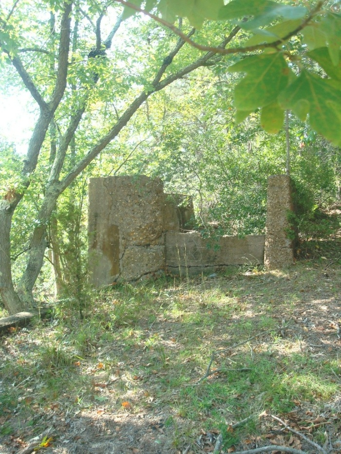 Old sand mining ruins