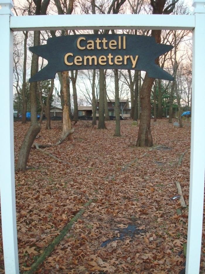 Cattell Cemetery sign