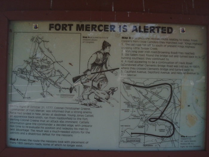 Fort Mercer and Jonas Cattell Plaque