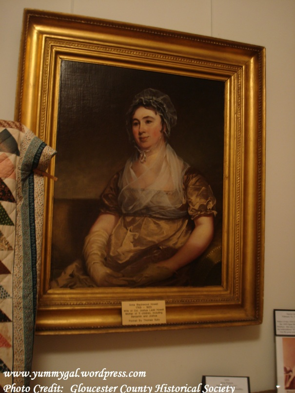 Anna Blackwood Howell 1769-1855. Descendent of Ladd's Castle and Howell Estate of Washington Park. A portrait from the famous artist, Thomas Sully.