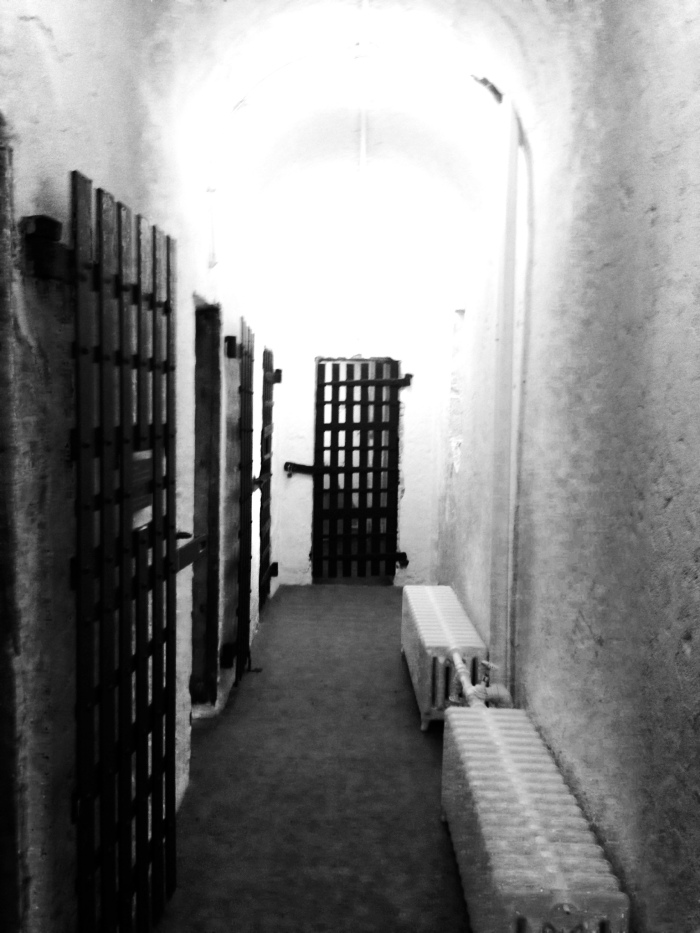 The hallways of the Mt. Holly Prison. Oooooh how ghoulish!