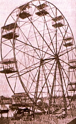 The tallest ferris wheel in the world reported in this time at Washington Park.