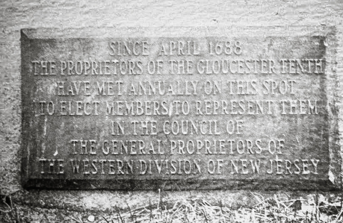 Proprietors Park plaque.  This still stands today!