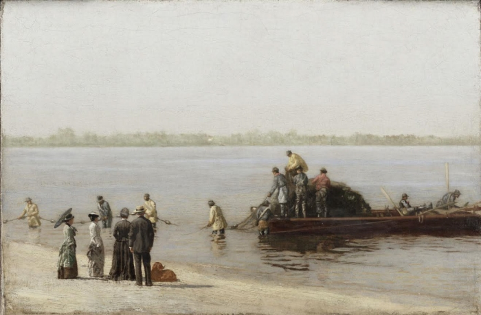 Famous painting by Thomas Eakins of shad fishing in Gloucester City.  Photo courtesy of the Philadelphia Museum of Art.