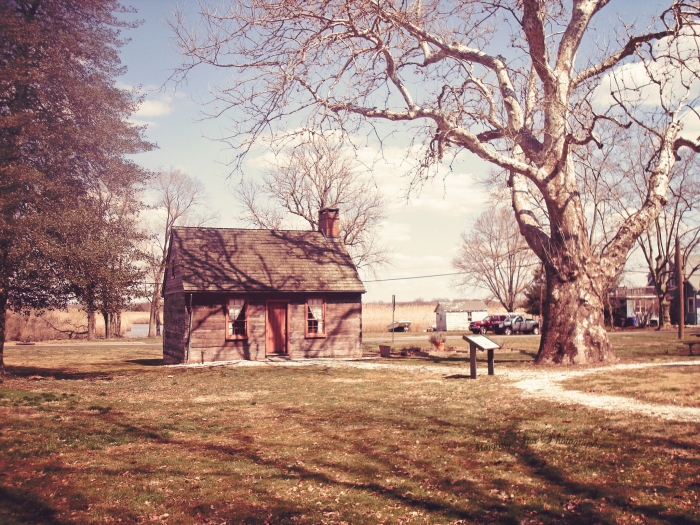 The cabin on the Hancock property.